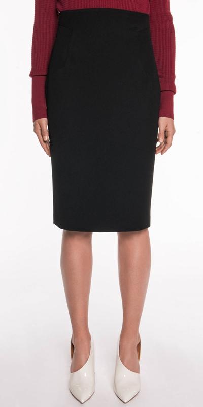 Wear to Work  | Twill Pencil Skirt