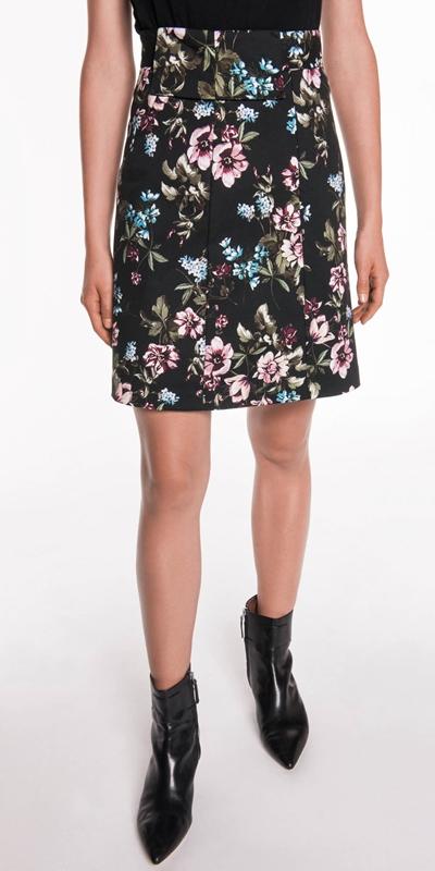 Skirts  | Floral A-Line Skirt