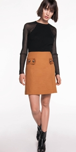Skirts | Cotton A-Line Skirt