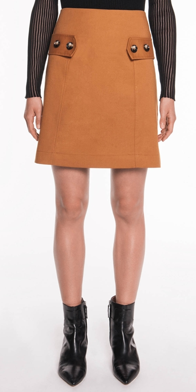 Sale  | Cotton A-Line Skirt