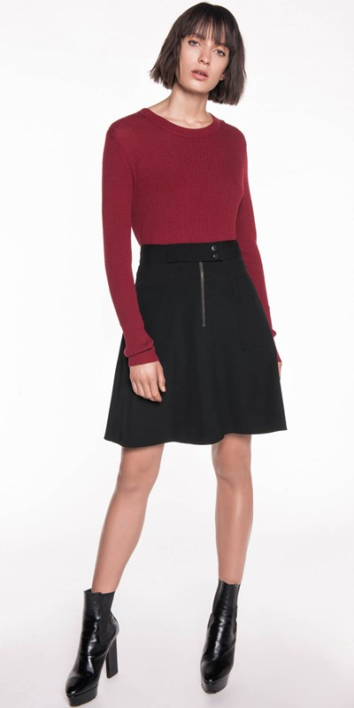 Sale | Twill A-Line Skirt