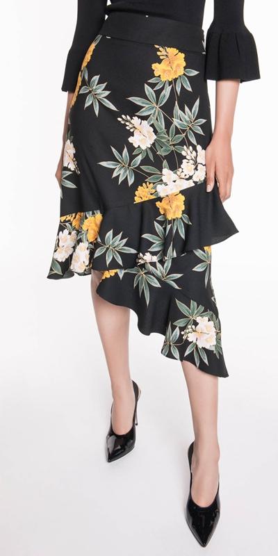 Wear to Work  | Kimono Floral Frill Skirt