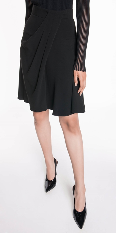 Skirts  | Drapey Asymmetric Skirt