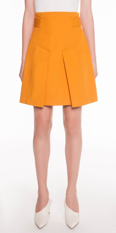 Skirts  | Cotton Twill Pleat Mini