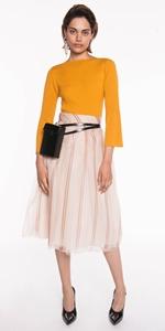 Skirts | Stripe Organza Tulle Skirt