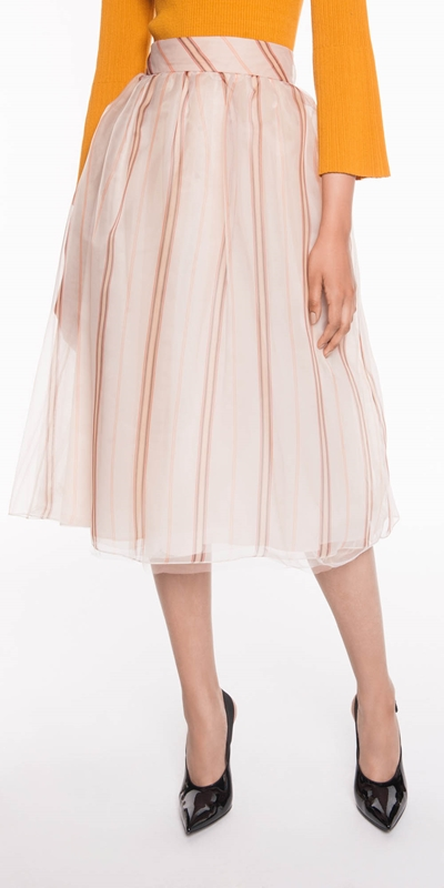 Sale  | Stripe Organza Tulle Skirt