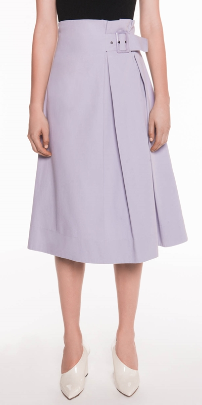 Sale  | Cotton Twill Midi Skirt