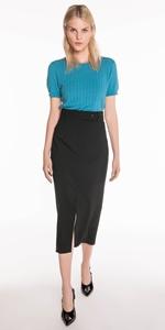Skirts | High Waist Front Split Skirt