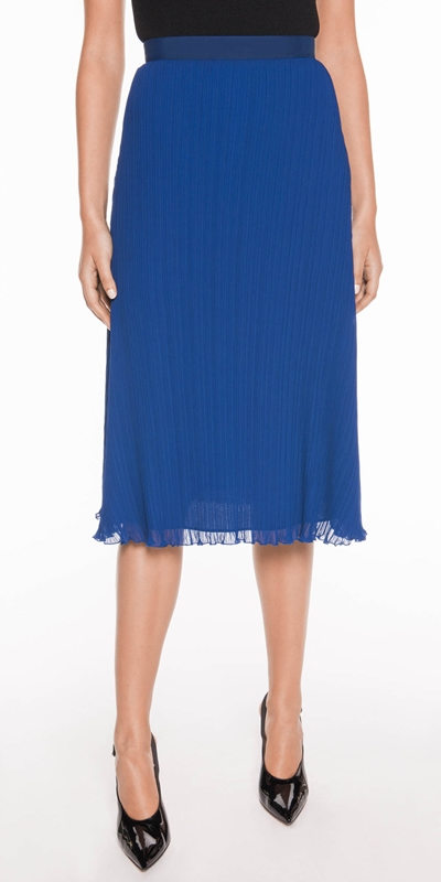 Skirts  | Cobalt Pleated Skirt