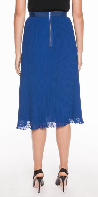 Skirts | Cobalt Pleated Skirt