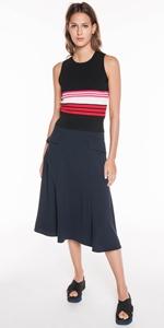 Skirts | Crepe Midi Skirt