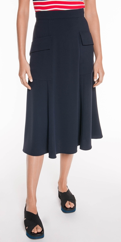 Sale  | Crepe Midi Skirt