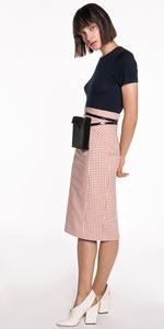 Skirts   Gingham Pencil Skirt