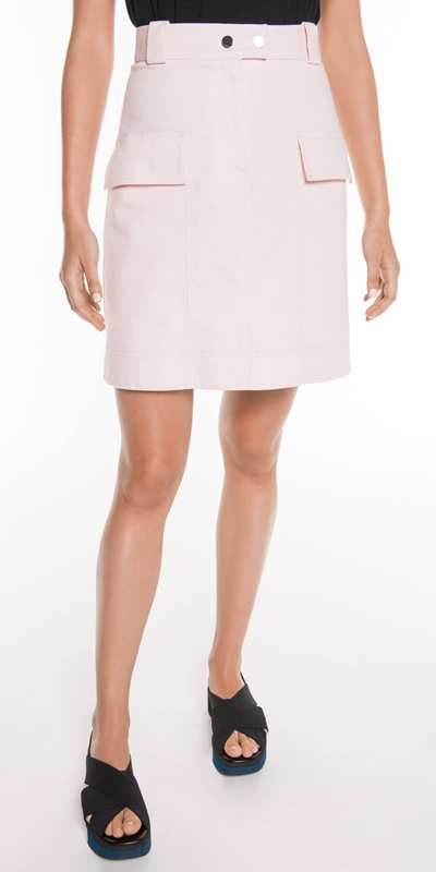 Skirts  | Pale Pink Denim Skirt