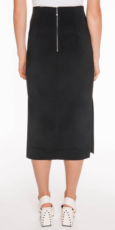 Skirts | Side Split Midi Skirt
