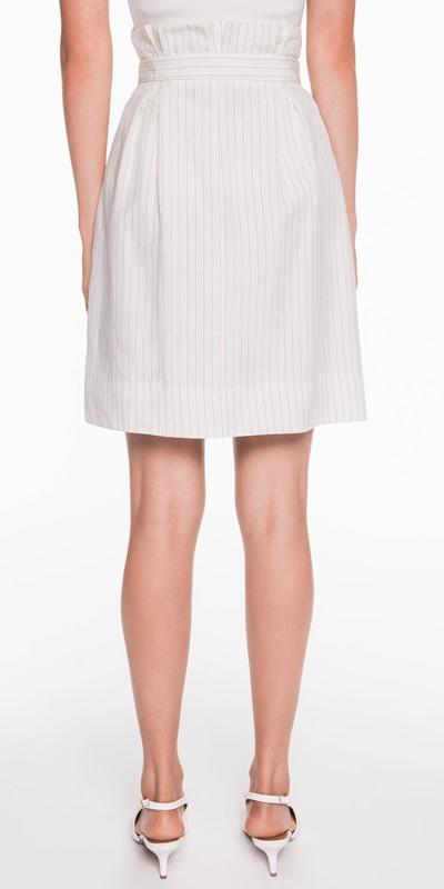 Skirts | Pinstripe Linen Blend Skirt