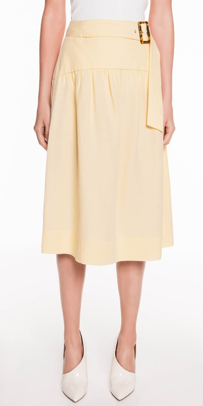 Made in Australia  | Linen Blend Midi Skirt