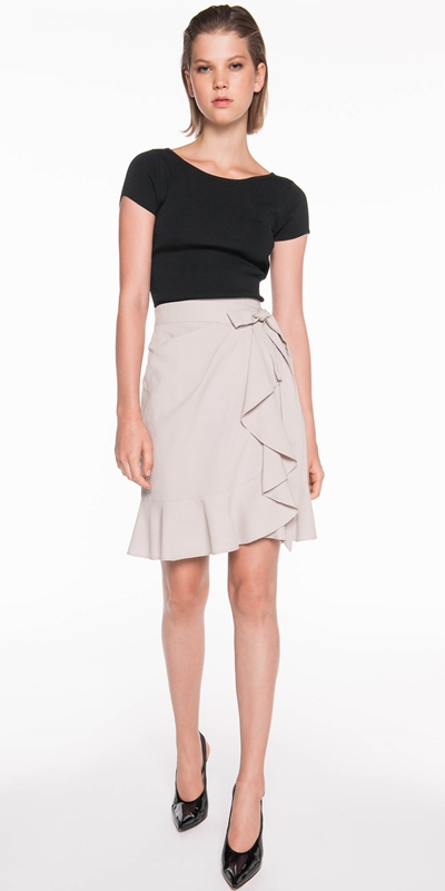 Made in Australia | Linen Blend Wrap Skirt