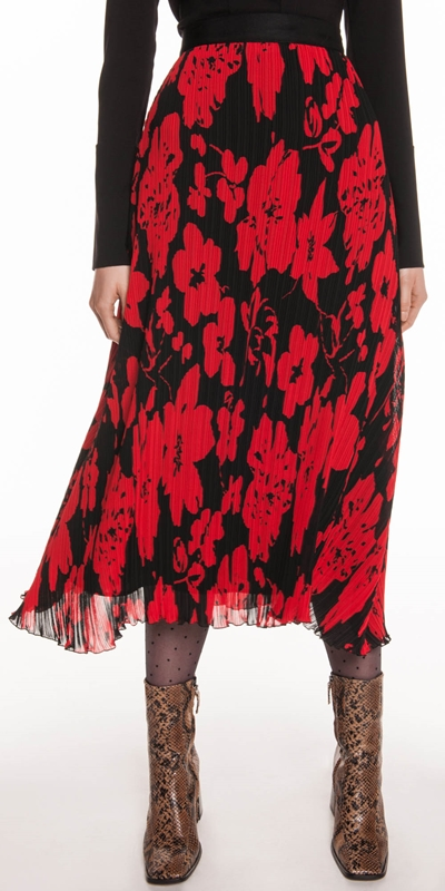 Skirts  | Pleated Poppy Midi Skirt