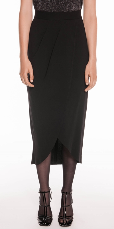 Skirts  | Drapey Asymmetric Midi Skirt