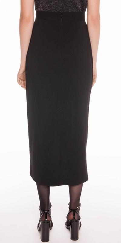 Skirts | Drapey Asymmetric Midi Skirt