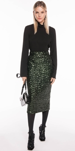 Skirts | Sequin Mesh Midi Skirt