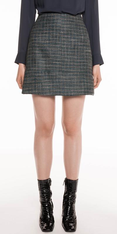 Skirts | Teal Tweed Skirt