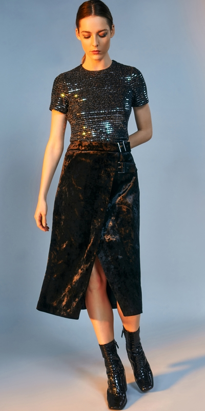 3f866d806 ... Skirts | Crushed Velvet Midi Wrap Skirt