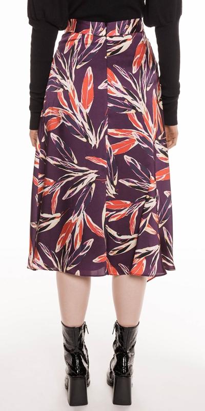 Skirts | Abstract Feather Satin Skirt