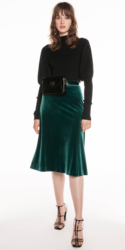 Made in Australia | Velvet Midi Skirt