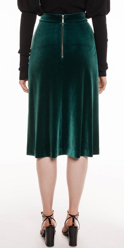 Skirts   Velvet Midi Skirt
