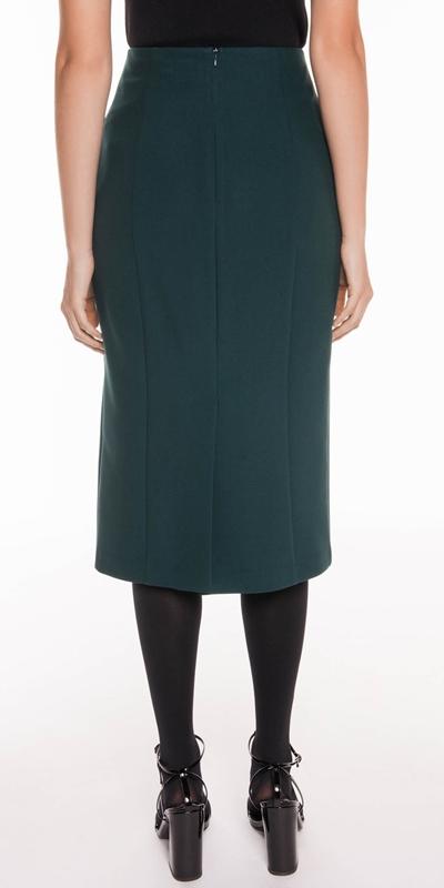 Skirts | Forest Twill Midi Skirt