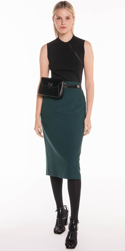 Skirts | Forest Twill Midi Skirt