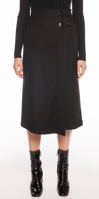 Skirts  | Wool Blend Midi Skirt