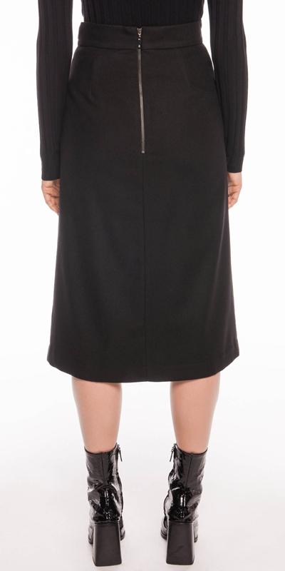 Skirts | Wool Blend Midi Skirt