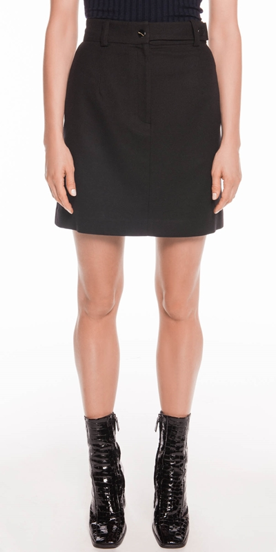 Skirts | Wool Blend A-Line Skirt