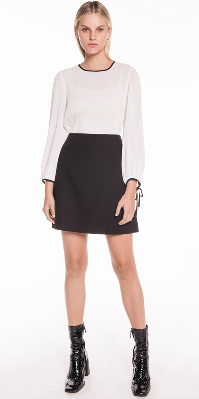 Skirts | Soft Twill Mini Skirt
