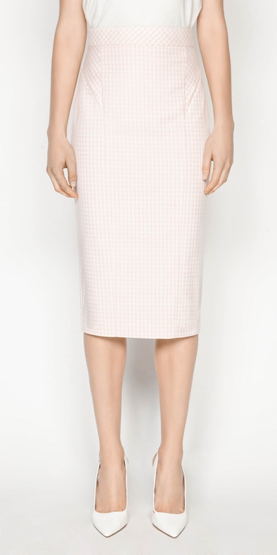 Made in Australia  | Gingham Pencil Skirt