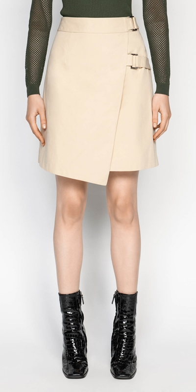 Sale  | Cotton Twill Wrap Skirt