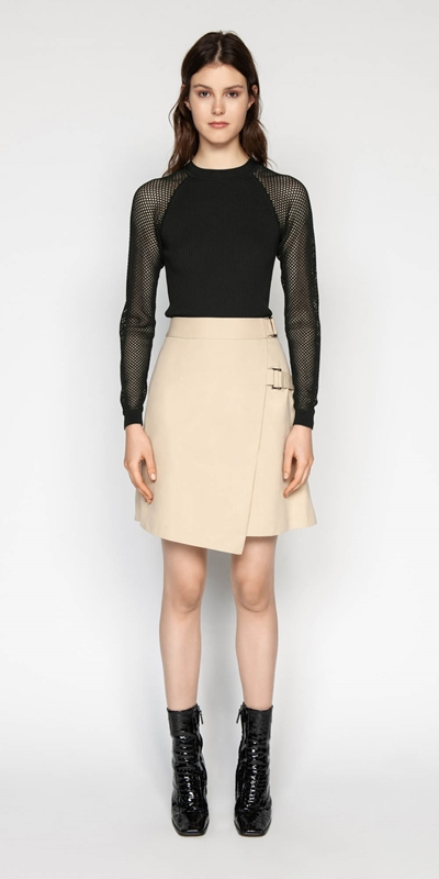 Skirts | Cotton Twill Wrap Skirt