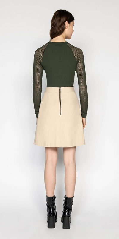 Skirts | Cotton Twill Wrap Skirt