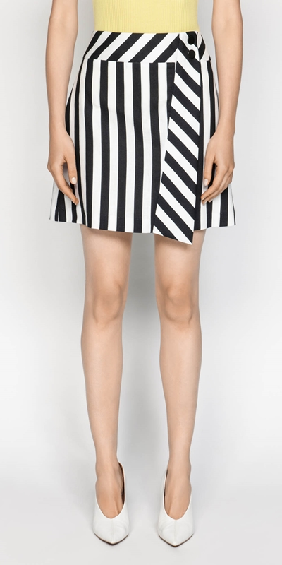 Skirts  | Graphic Stripe Mini
