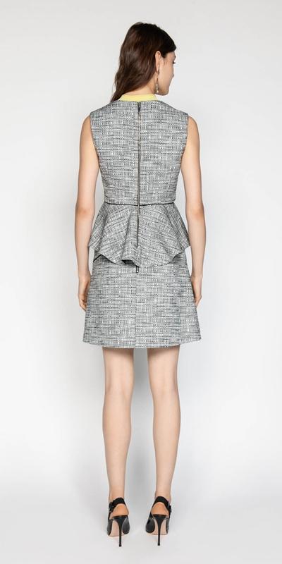 Skirts | Cotton Tweed Asymmetric Mini