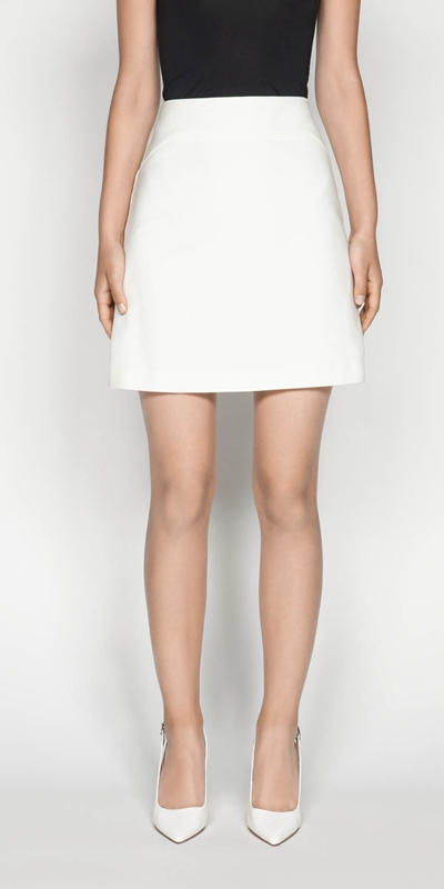 Skirts | Cotton Blend Mini Skirt