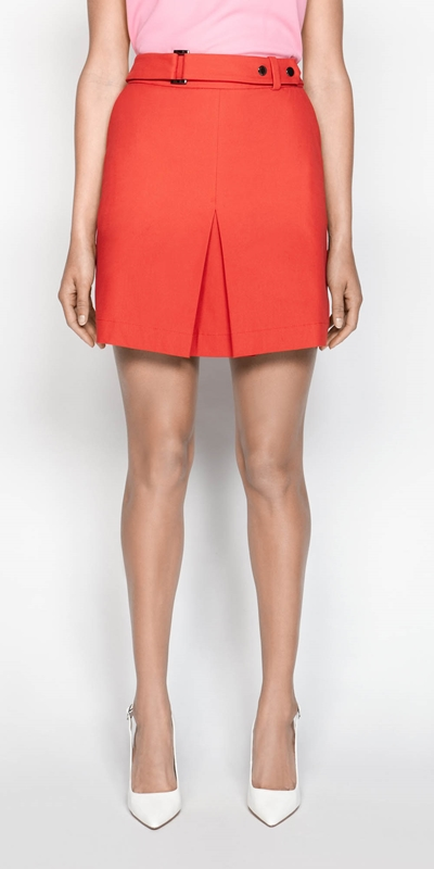 Skirts  | Box Pleat Mini Skirt