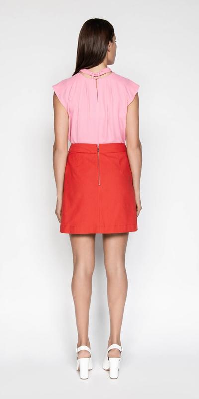 Skirts | Box Pleat Mini Skirt