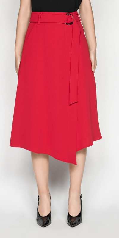 Sale  | Belted Wrap Skirt