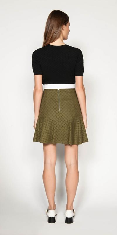 Skirts | Linen Broderie Skirt