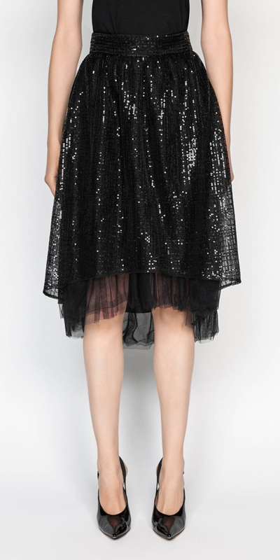 Skirts  | Sequin Mesh Skirt