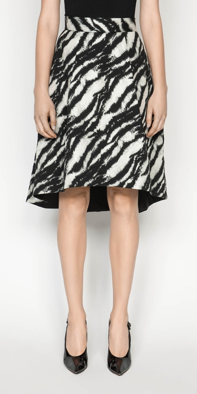 Skirts  | Tiger Stripe Jacquard Skirt